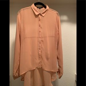 Braque Label high low sheer button down